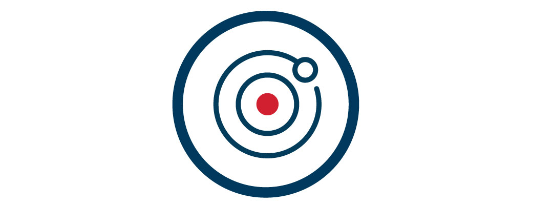 Icon of a bullseye on a target